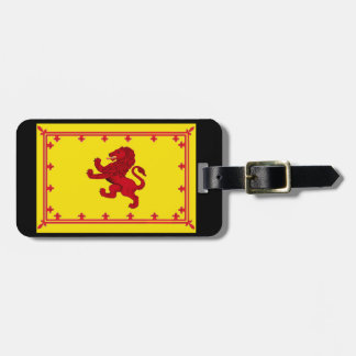 Scotland Rampant lion/Ancient flag Yellow Luggage Tag