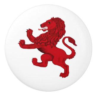 Scotland red ancient Rampant lion Ceramic Knob