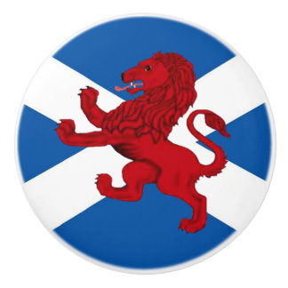 Scotland red ancient Rampant lion/St Andrews cross Ceramic Knob