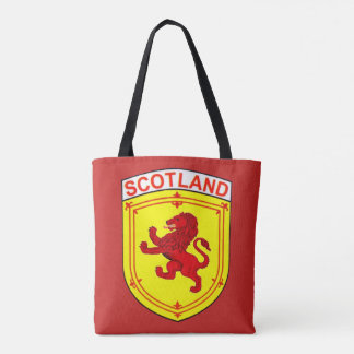 Scotland red ancient Rampant lion Tote Bag