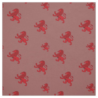 Scotland red Rampant ancient Lion flag Fabric