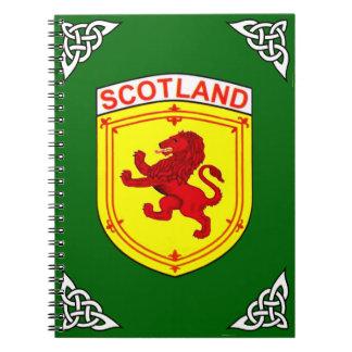 Scotland red Rampant ancient Lion flag Notebooks