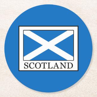 Scotland Round Paper Coaster