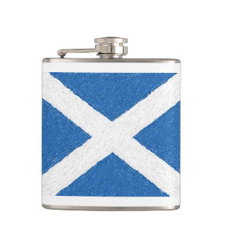 Scotland Saint Andrew's Cross Flag Flask