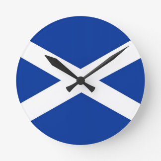 scotland scotish country flag clock
