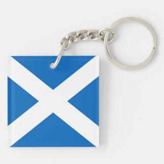 Scotland/Scottish Flag Double-Sided Keychain