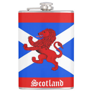 Scotland Scottish Rampant lion, Saint Andrews flag Hip Flask