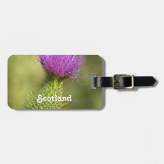 Scotland Thistle Luggage Tag