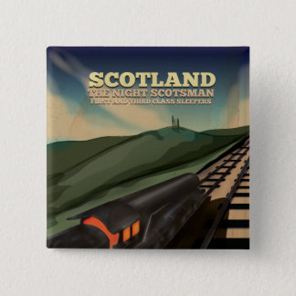 Scotland Travel Poster 15 Cm Square Badge