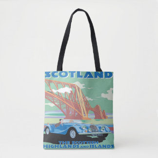 Scotland Vintage Tote bag Car Travel