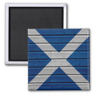 Scotland Wooden Plank Texture Magnet