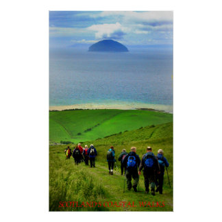 Scotland's Coastal Walks Poster