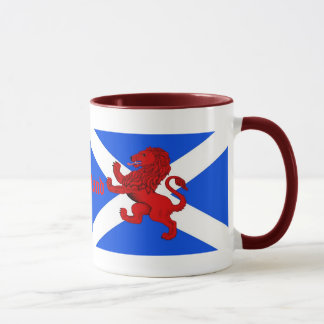 Scotland's Rampant lion, St. Andrews flag Mug