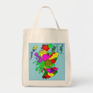 Scotland's Shires and Clans Organic Tote Grocery Tote Bag