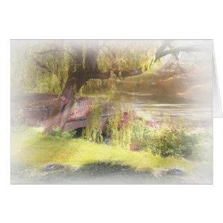 Scotland's Summer-Autumn Bridge Greeting Card
