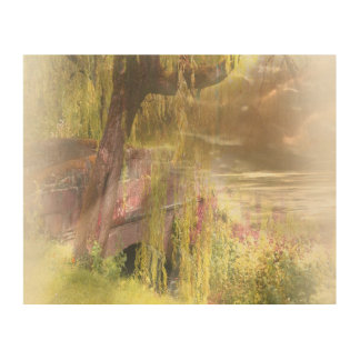 Scotland's Summer-Autumn Wood Print
