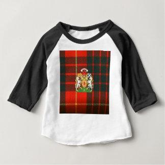 SCOTS UNICORN HERALDRY ON CAMERON TARTAN BABY T-Shirt