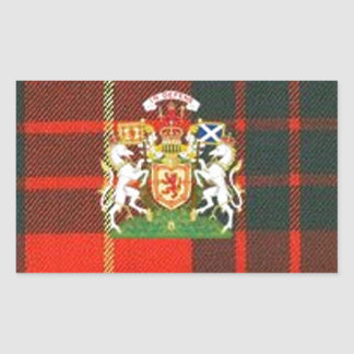 SCOTS UNICORN HERALDRY ON CAMERON TARTAN RECTANGULAR STICKER