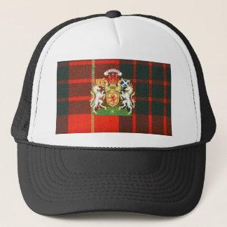 SCOTS UNICORN HERALDRY ON CAMERON TARTAN TRUCKER HAT