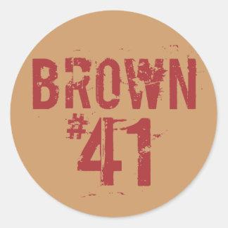Scott BROWN #41 Round Stickers