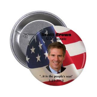 Scott Brown Button (t shirt pin magnets)