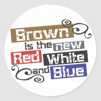 Scott Brown the new Red, White and Blue, NH Senate Stickers