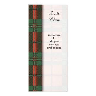 Scott clan Plaid Scottish tartan Full Color Rack Card