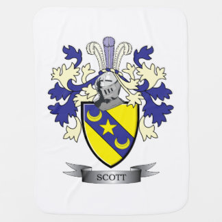 Scott Family Crest Coat of Arms Baby Blanket