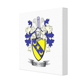 Scott Family Crest Coat of Arms Canvas Print