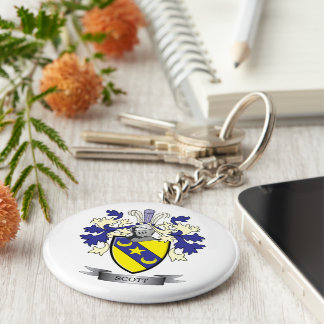Scott Family Crest Coat of Arms Key Ring