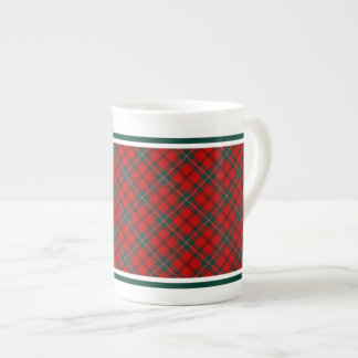 Scott Family Tartan Red and Forest Green Plaid Tea Cup