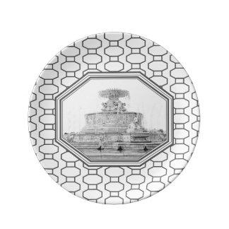 Scott Fountain   Belle Isle   Detroit, Michigan Plate
