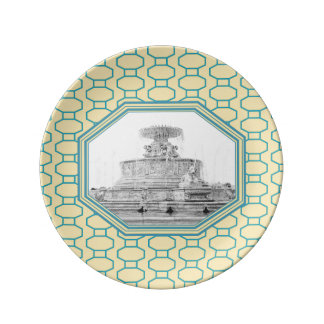 Scott Fountain | Belle Isle | Detroit, Michigan Plate
