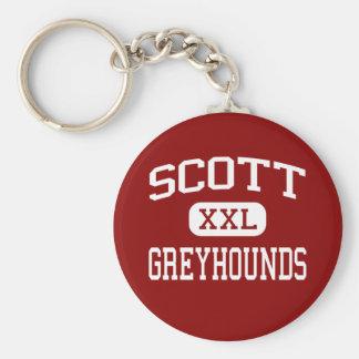 Scott - Greyhounds - High - East Orange New Jersey Basic Round Button Key Ring