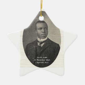 Scott Joplin Ceramic Ornament