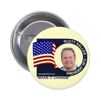 Scott Keller for President 2012 6 Cm Round Badge