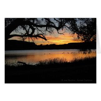 Scott Lake State Park Sunset Card
