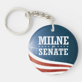 Scott Milne 2016 Single-Sided Round Acrylic Key Ring