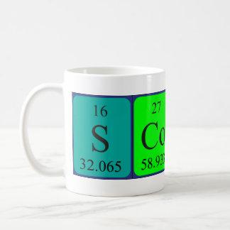Scott periodic table name mug