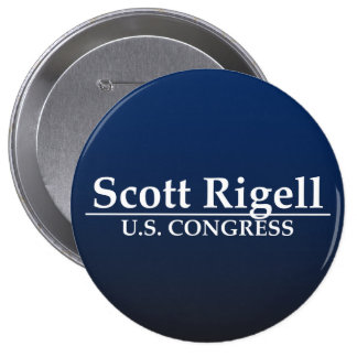 Scott Rigell U.S. Congress 10 Cm Round Badge