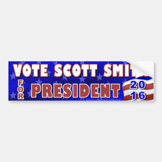 Scott Smith President 2016 Election Independent Car Bumper Sticker