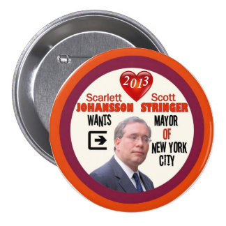 Scott Stringer NYC Mayor 2013 7.5 Cm Round Badge
