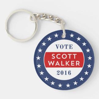 Scott Walker 2016 Double-Sided Round Acrylic Key Ring