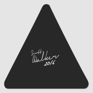 Scott Walker Autograph 2016 - Election 2016 Triangle Stickers
