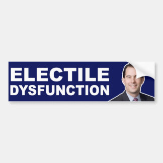 Scott Walker: Electile Dysfunction Bumper Sticker