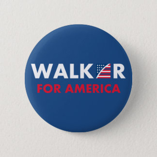 Scott Walker For America 6 Cm Round Badge