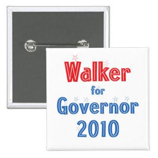 Scott Walker for Governor 2010 Star Design 15 Cm Square Badge