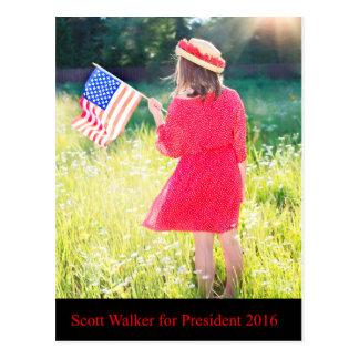 Scott Walker for President 2016 Postcard