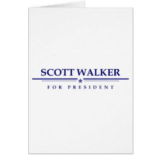 Scott Walker for President Card