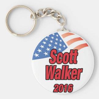 Scott Walker for president in 2016 Basic Round Button Key Ring